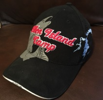 Complimentary hat given to all guests of Ellen Island Camp.